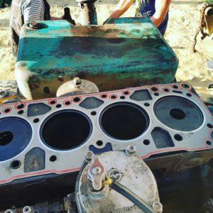 Капитальный ремонт двигателя косилки плющилки E 302 E 303